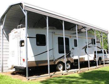 Metal rv carports rv cover kits custom rv shelters for for Carports for motorhomes