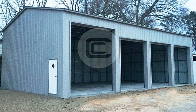 24x51 side entry garage certified metal garage with side for Side entry garage