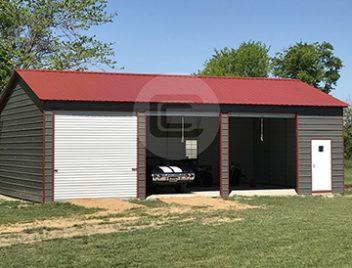 Metal carports custom garage buildings rv carport for Metal 3 car garage