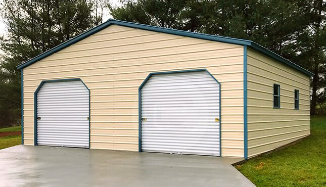 Prefabricated Metal Garage With Rto 30x31x10 With 3
