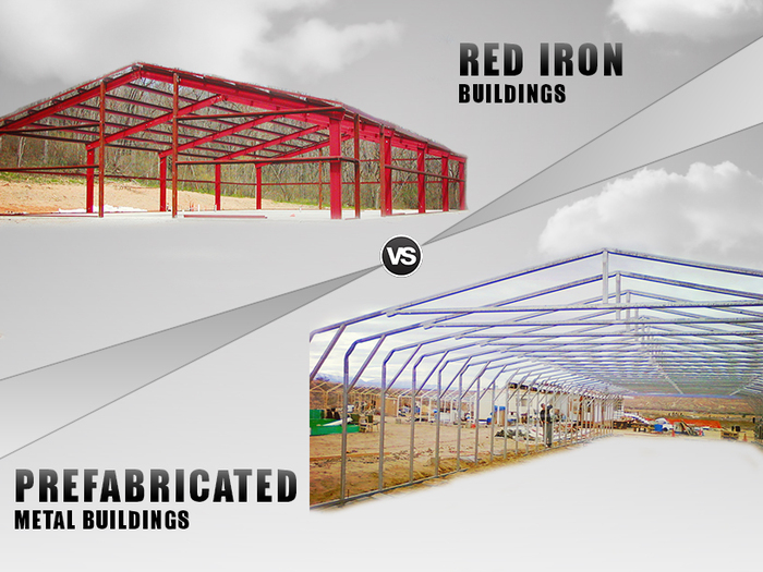 Red Iron Buildings v/s Prefabricated Metal Buildings & Structures