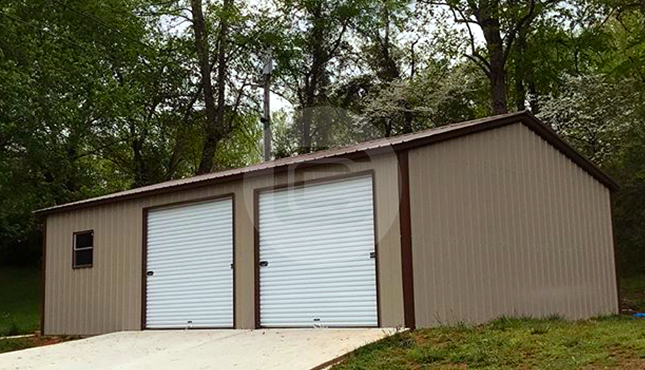 Side Entry Metal Garage for Sale