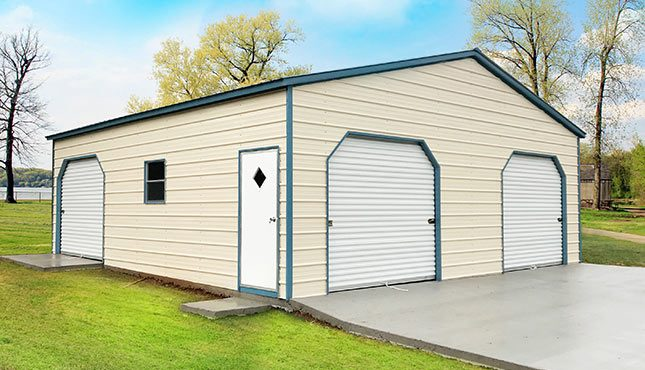 30x30 Prefab Metal Garage