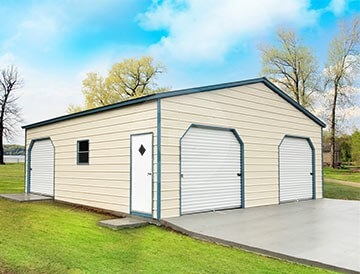 Prefabricated metal garage with rto 30x31x10 with 3 for Affordable barns and garages