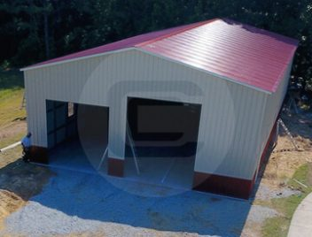 Metal rv carports rv cover kits custom rv shelters for for Rv garage cost