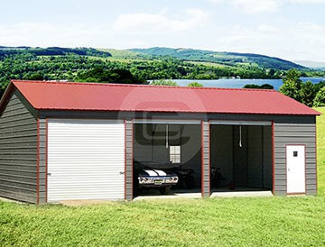 24x41 Side Entry Garage Vertical Roof Garage For 3 Cars