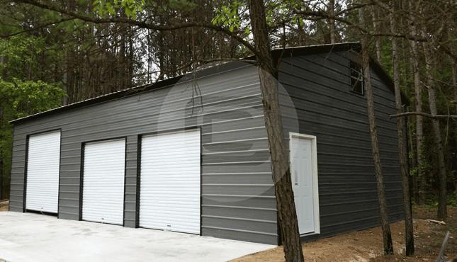 Side Entry Metal Garages Car Garages With Side Entries