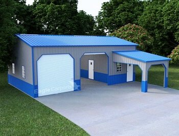 Side Entry Garage with Lean-to-1