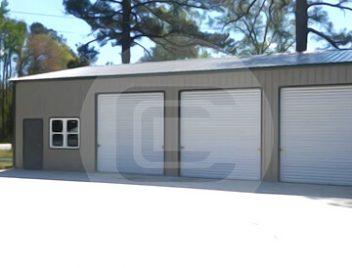 Metal garages for sale steel carport rv garage building for Clear span garages
