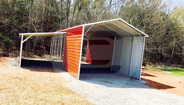 Custom Carolina Barn-side