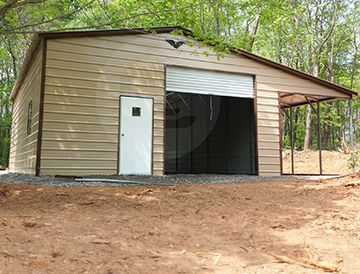 Metal Garage With Lean To Custom Garage With Lean To