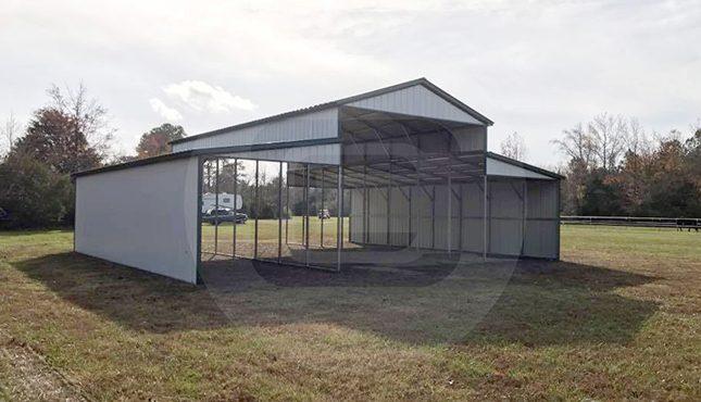 Metal Carolina Barn-front