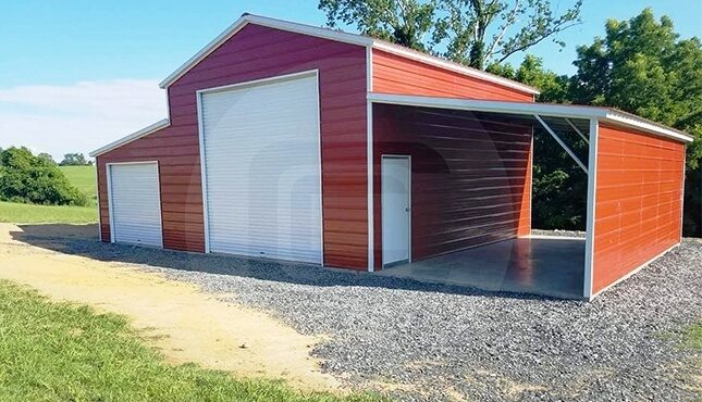 Raised Center Aisle Barn- side