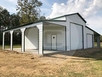 Vertical Roof Style Metal Barns Seneca Barn Building For