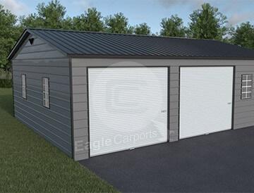 Snowwind Certified Metal Garage 30x30 Carport Central