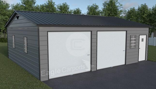 SnowWind-Certified-Metal Garage 30x30
