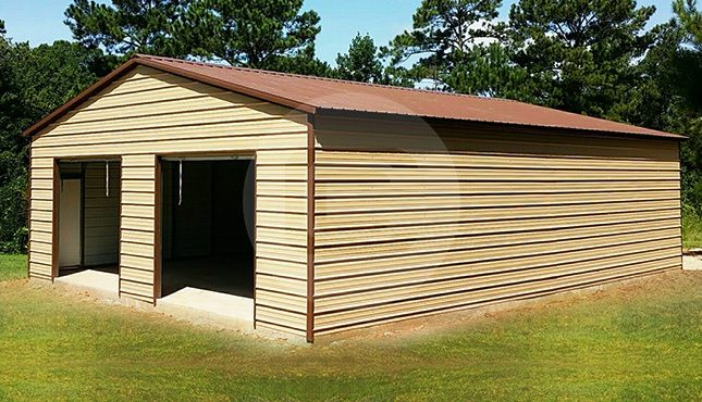 24x41 Two Car Steel Garage-1