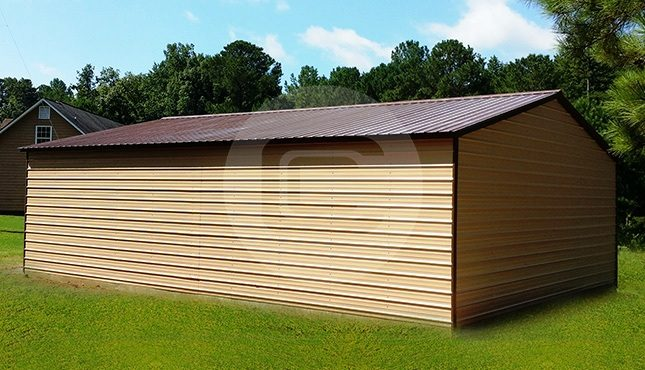 24x41 Two Car Steel Garage-B-2