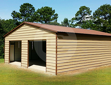 Two car steel garage buy metal garage for 2 car for Buy 2 car garage