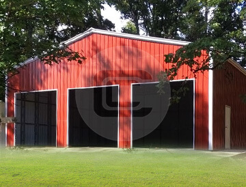 50x50x16-Clear Span Garage
