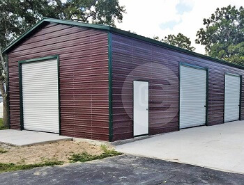 24x51x13 Side Entry Garage Workshop-1