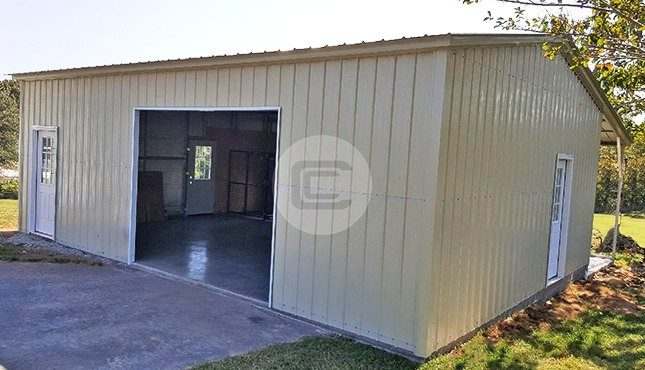 Garage with Dog Kennel-3