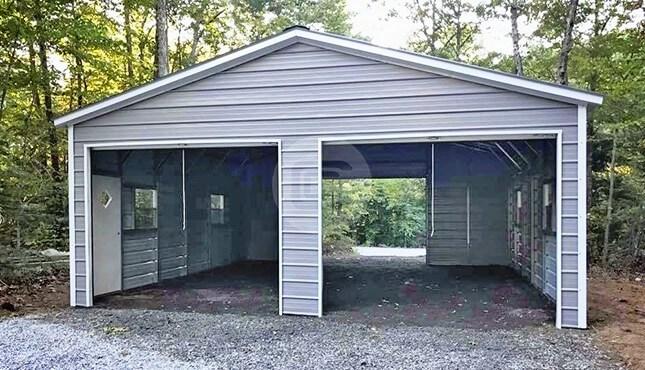 24×31 Enclosed Metal Garage