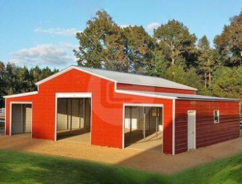 Raised Center Aisle Barn-2