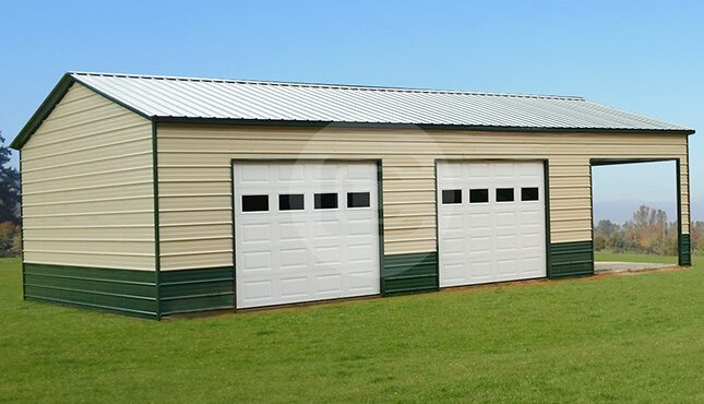 22x41x12 Two-Tone Side Entry Garage