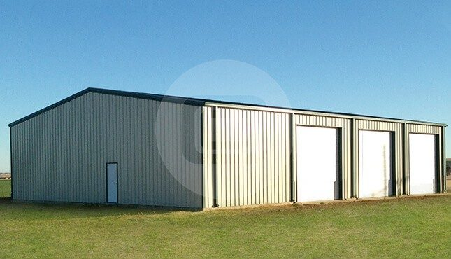 48x60 commercial garage clear span commercial garage for Clear span garages