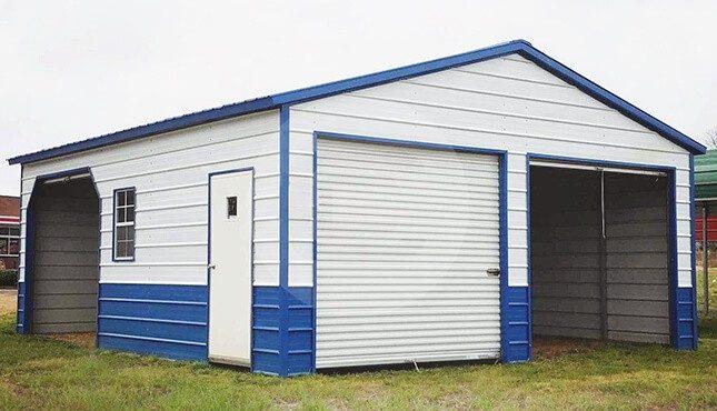 24x26-two-tone-metal-garage