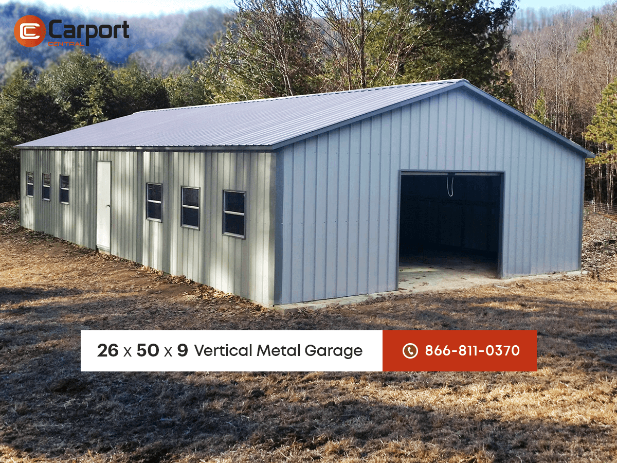 26x50 garage building metal building of the week for Blog construction garage
