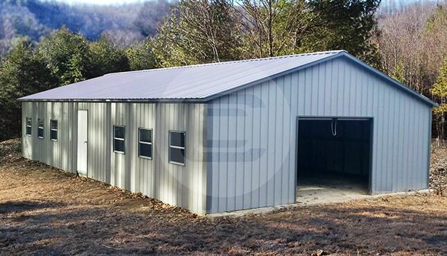Garage Building Cost: Steel Carport RV Garage Building