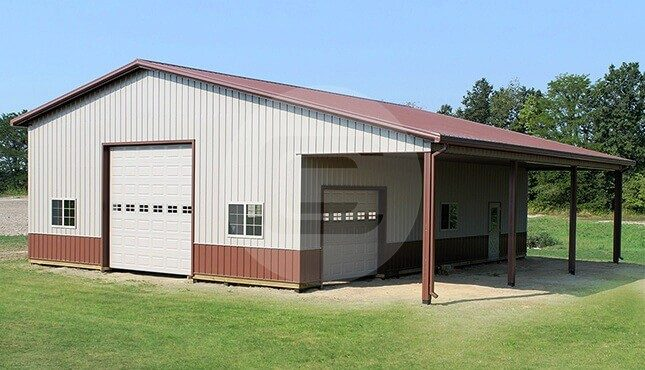 48x40 lean to garage 16 tall commercial building for 14 foot tall garage door