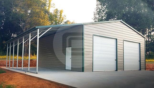 Metal garages for sale enclosed side entry garage prices for 24x40 garage kit