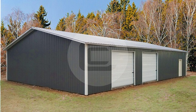 Metal garages for sale enclosed side entry garage prices for Clear span garages