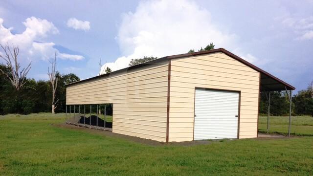 60 20 Overhead Metal Shelter : Metal garages for sale enclosed side entry garage prices