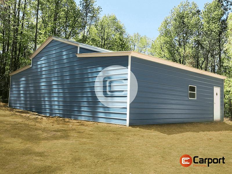 42x30 Steel Pole Barn - Side