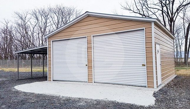 24x30 metal garage with lean to lean to garage for two cars for 24x30 carport