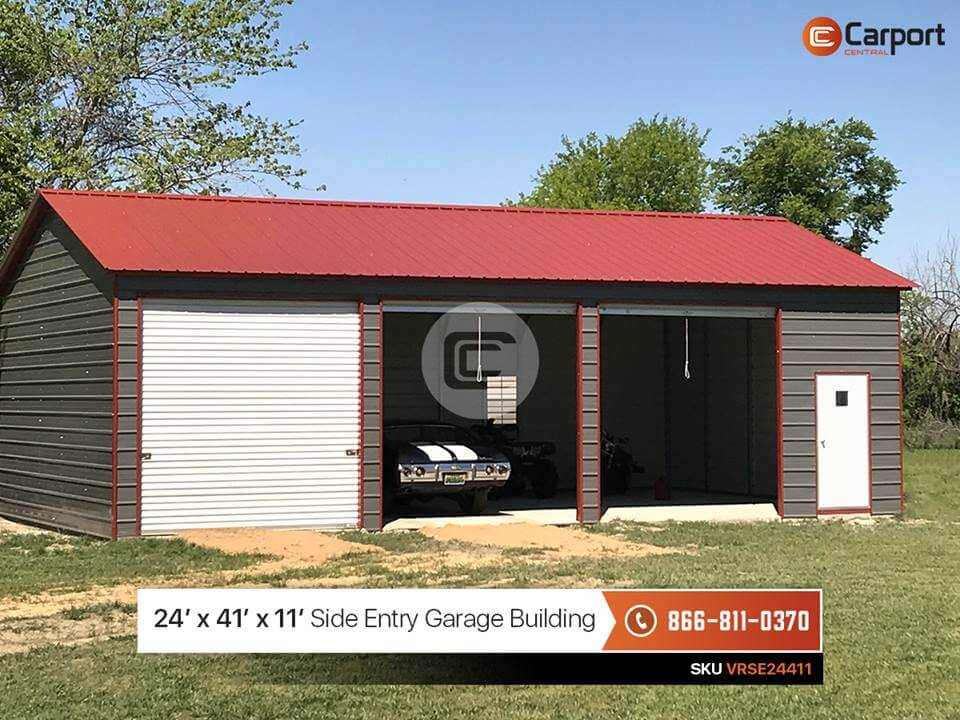 24x40 Side Entry Garage Building