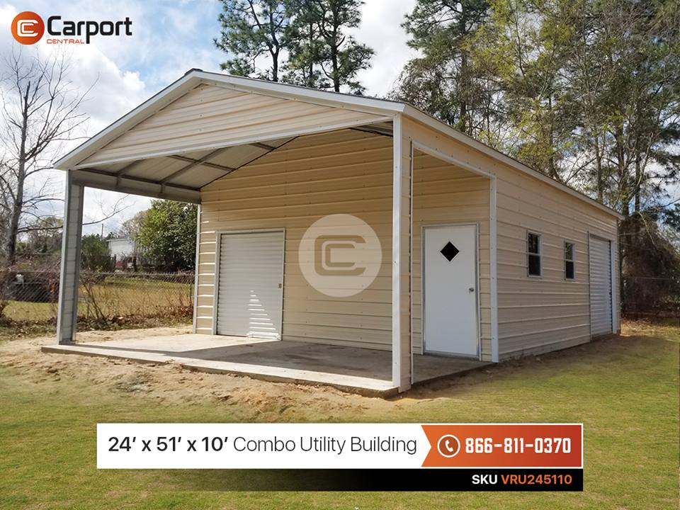24x50 Combo Utility Building