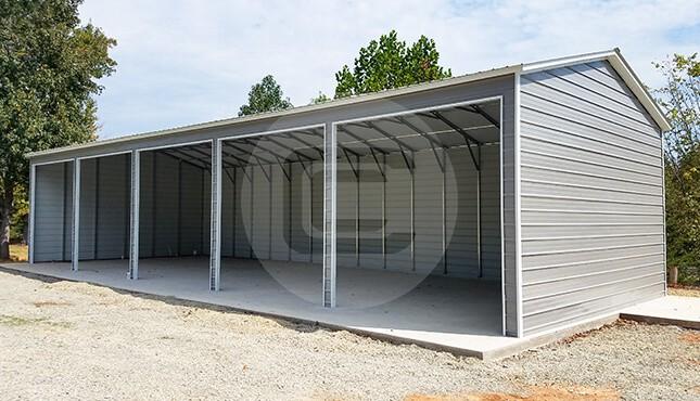 24x50 Garage Metal : Metal garages for sale enclosed side entry garage prices