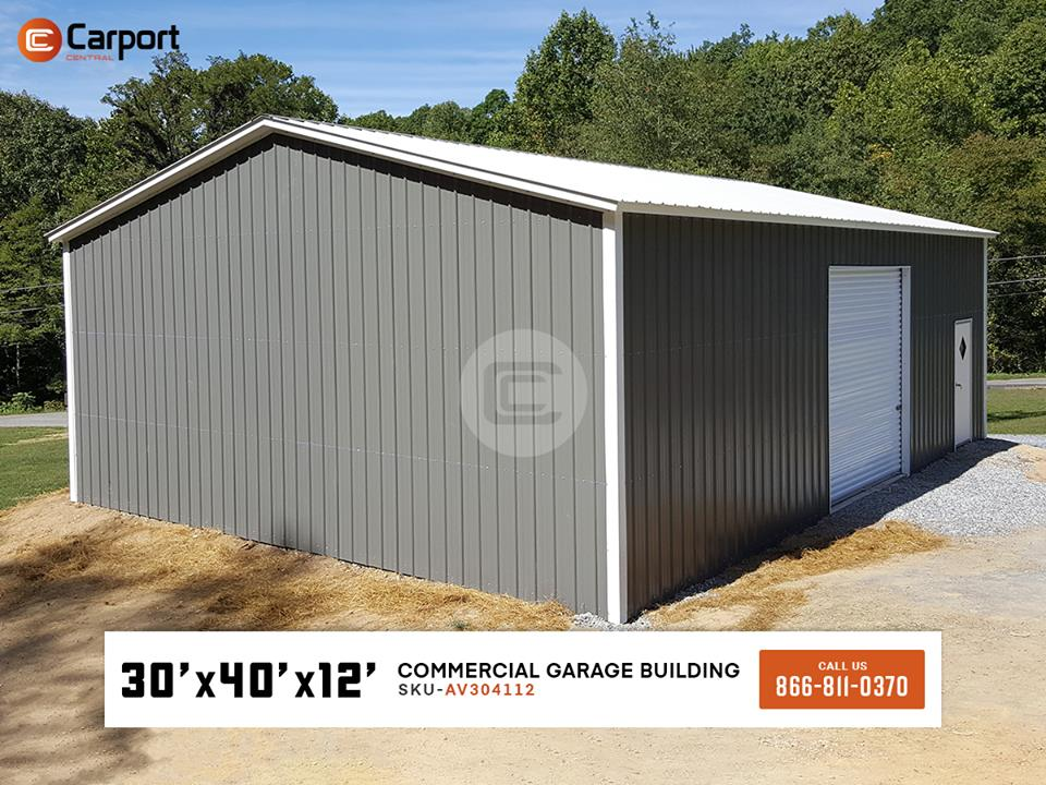 30x40 commercial garage building carport central for 30 x 40 carport