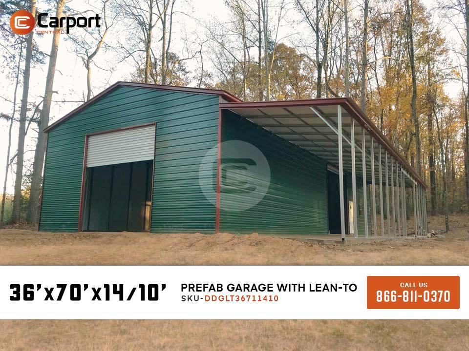 36×70 Prefab Garage