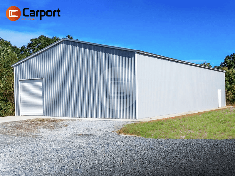 40×80 Commercial Garage - side view