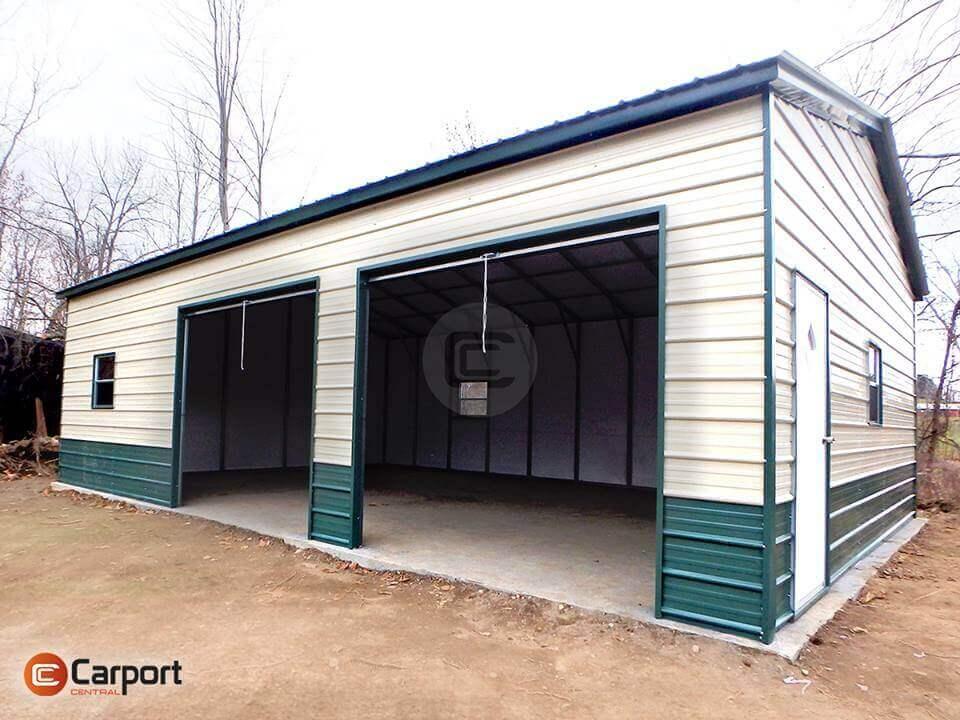 24x30 Side Entry Metal Garage