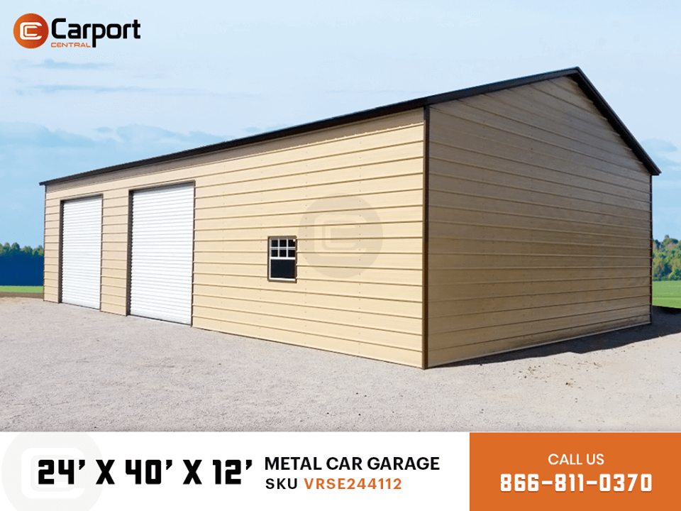 24x40 Metal Car Garage