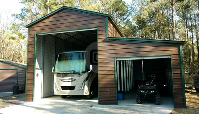 RV Carport with Shed