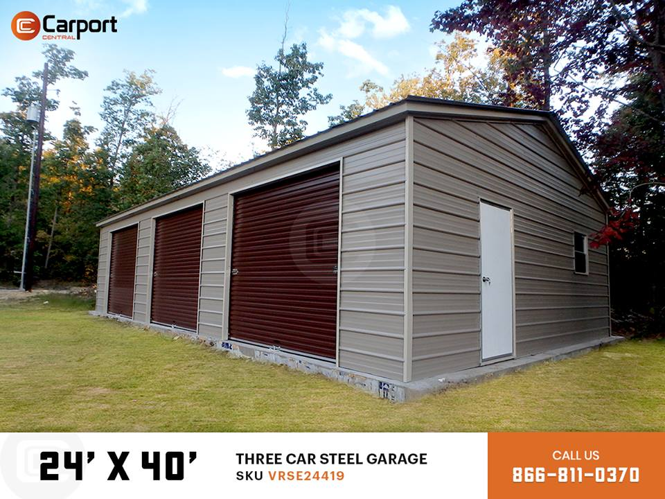 24x40 Three Car Garage