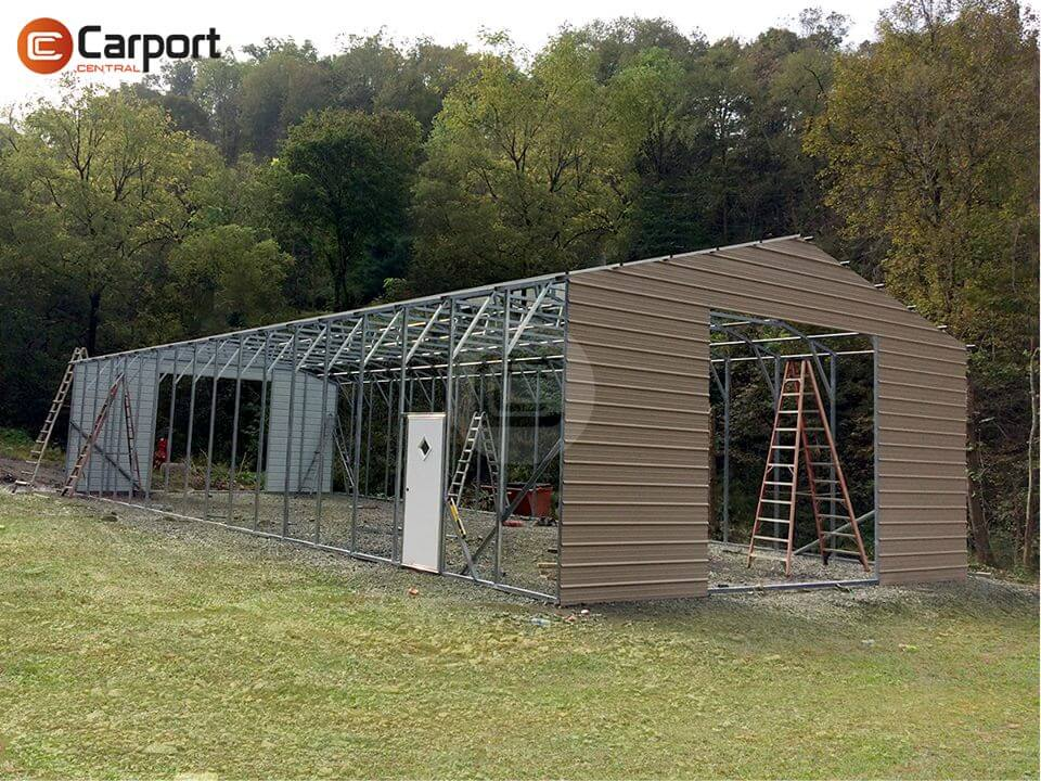 28×70 Metal Building - Installation